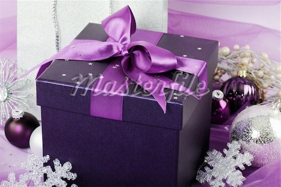 400 04753620 Silver And Purple Christmas Gifts Holiday