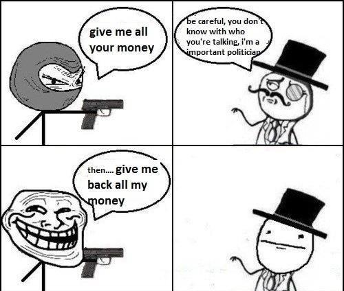 ab84cba2738c10cb23a04e0ed39418d3 all the troll faces trollface meme give me all my money