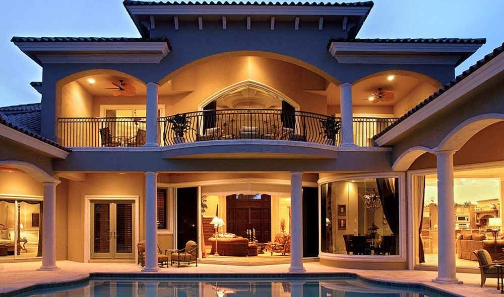 Stunning Two Story Luxury Home Plan 66070we 11 Mediterranean Style House Plans Mediterranean Homes Luxury House Plans