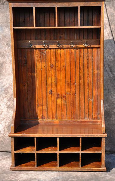 Entranceway Mudroom Organizer Bench With Coat Hooks 48 Inch Rustic