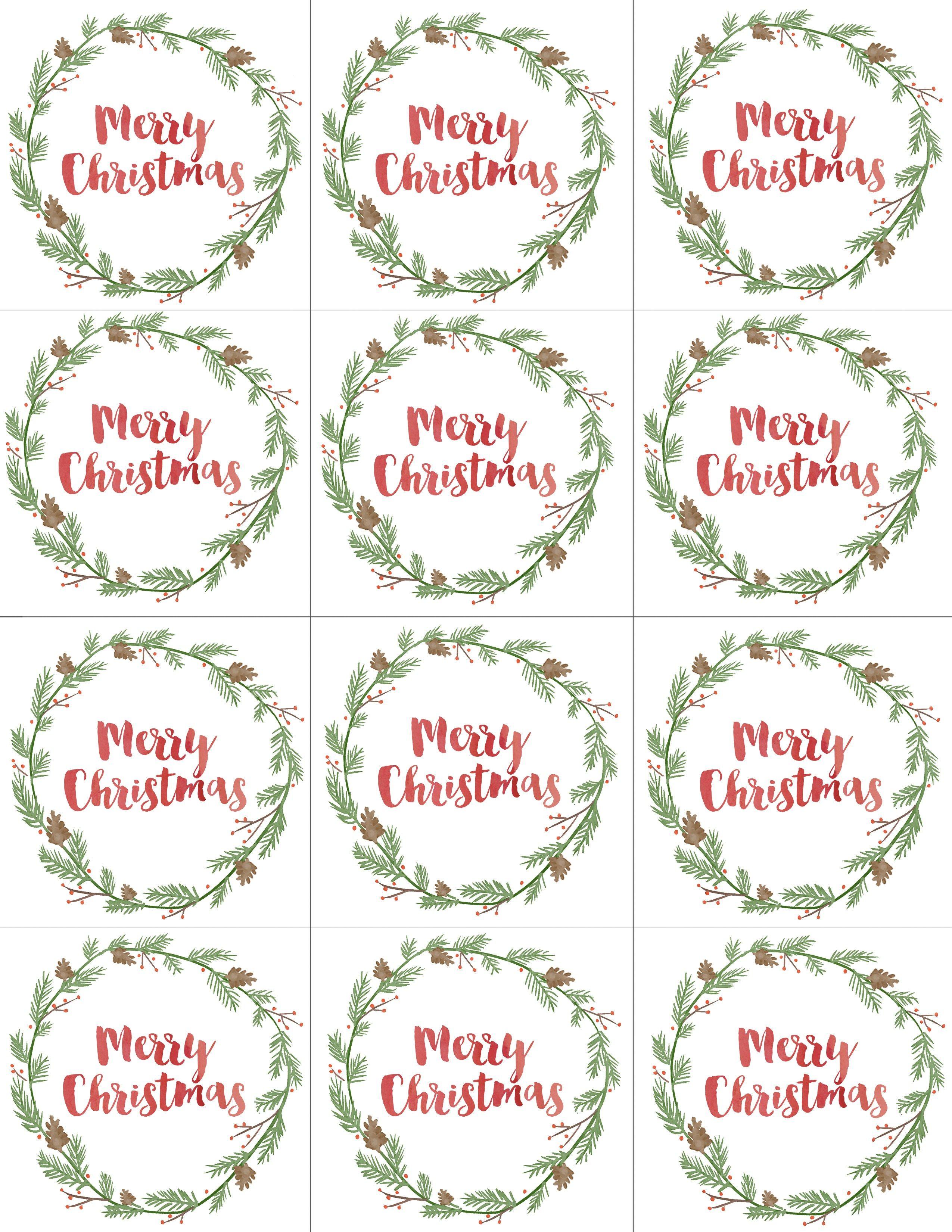 Free Printable Merry Christmas Gift Tags Christmas Gift