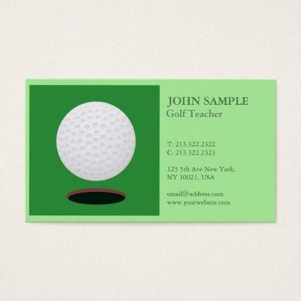 Modern elegant professional simple design golf business card modern elegant professional simple design golf business card trendy gifts cool gift ideas customize colourmoves