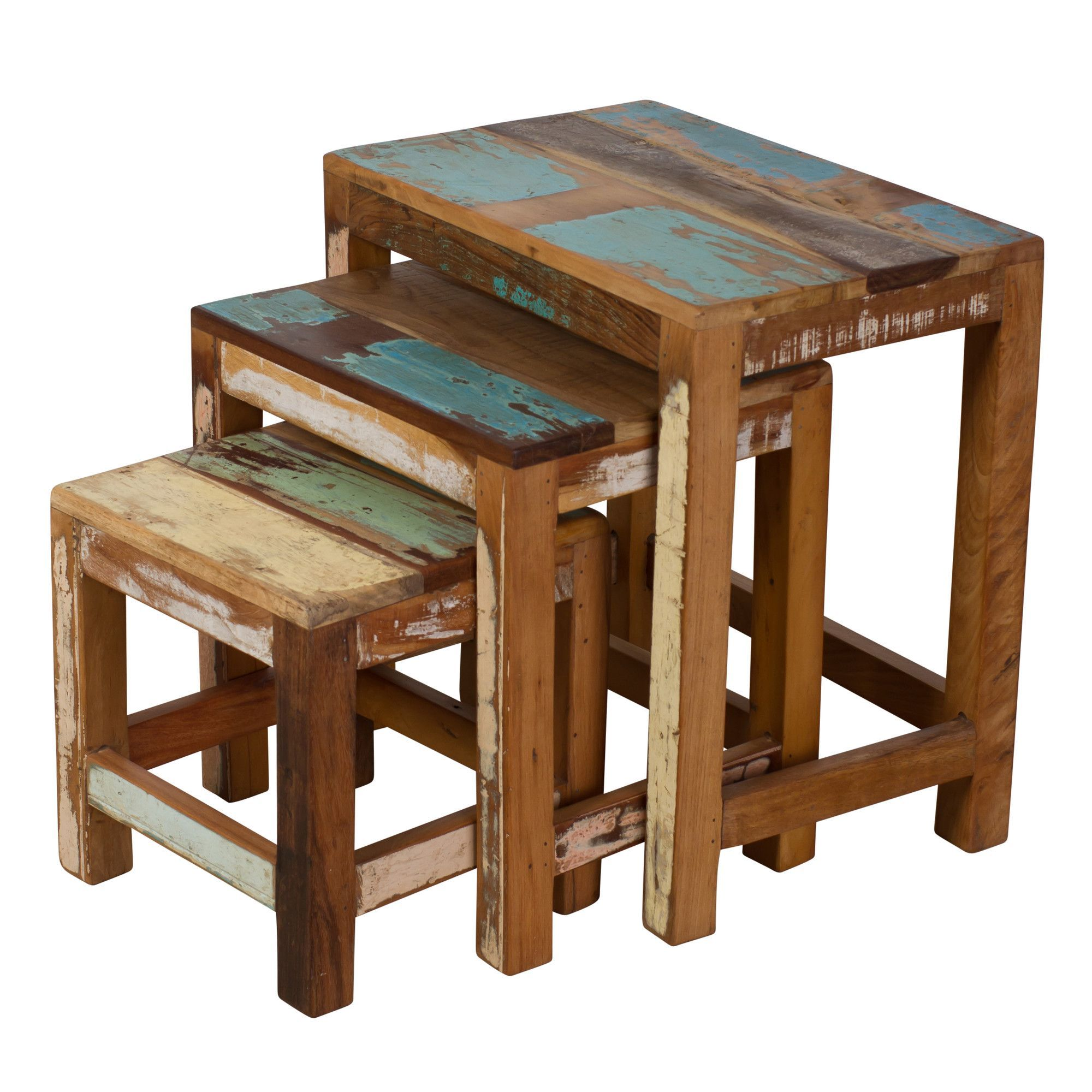 Saraghna 3 Piece Nesting Table Set  sc 1 st  Pinterest & Saraghna 3 Piece Nesting Table Set | Pallets Paint ideas and Pallet ...