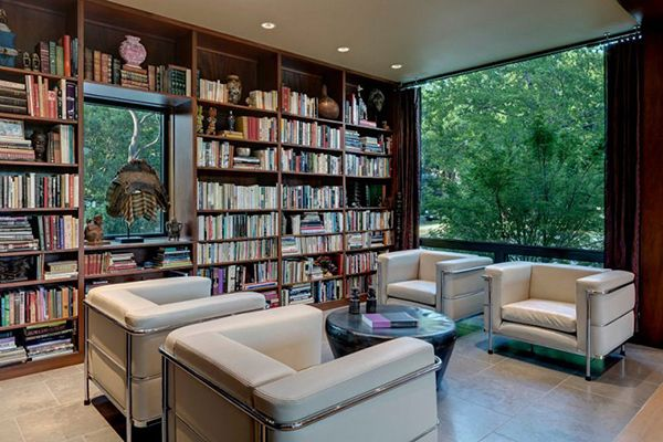 Contemporary Home Design, Marvellous Library Study Room Cream Sofa:  Wonderful Three Room Design To Part 41