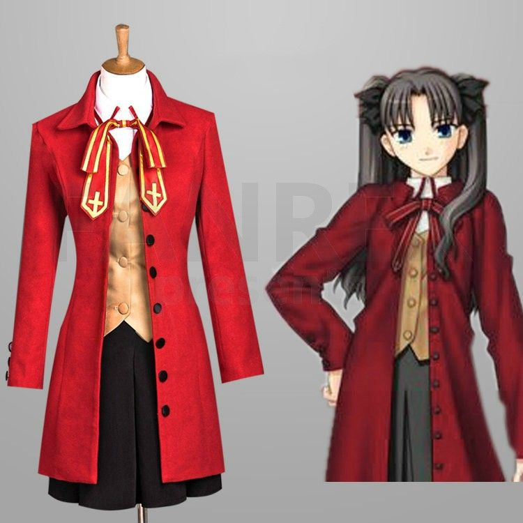 Fate Stay Night Cosplay Rin Tohsaka Suit Dress Costumes  cd065d2c6656