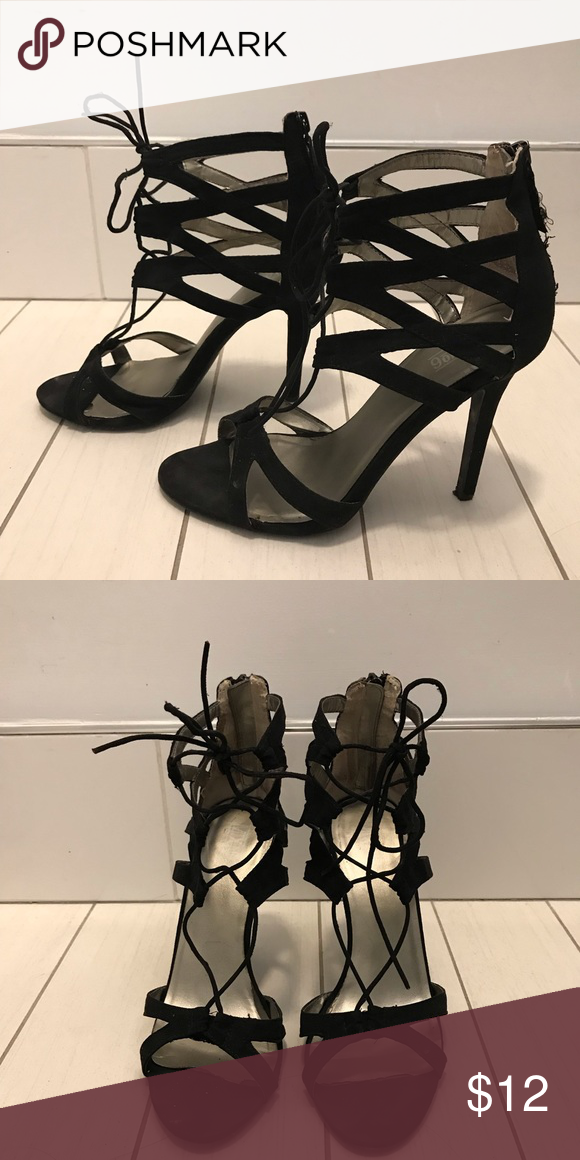 DSW Brand lace up heels Used Shoes