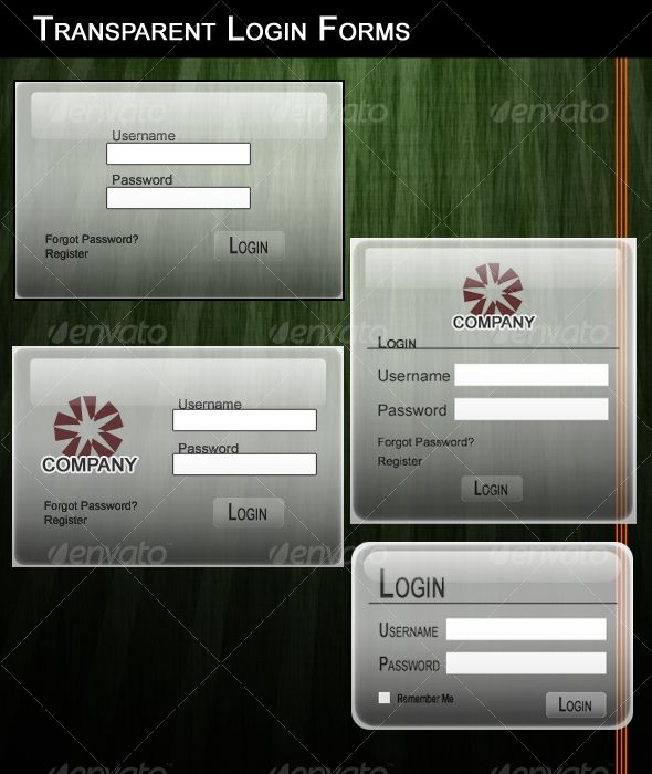 transparent login forms | template, font logo and fonts, Powerpoint templates