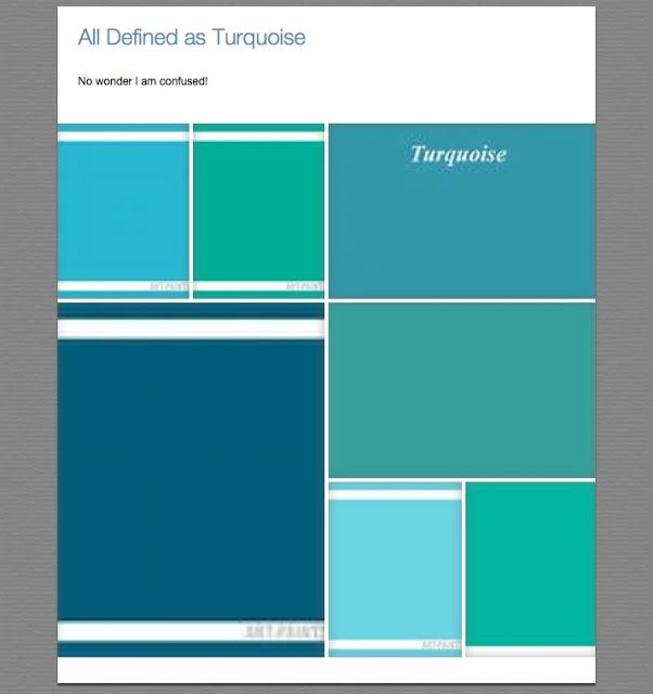 Differences Between Aqua Teal Turquoise
