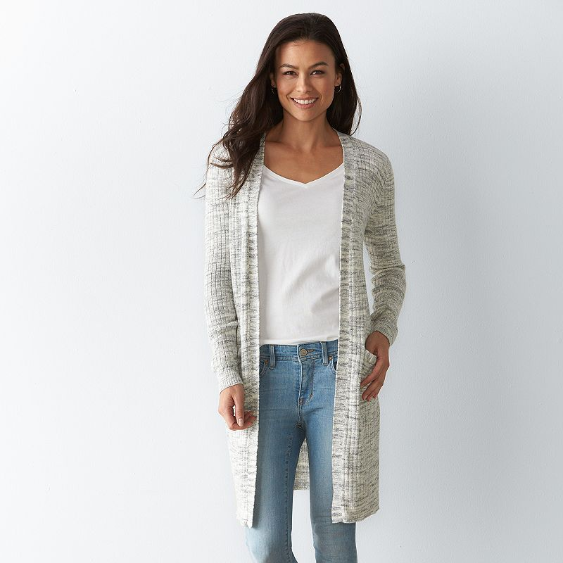 Petite SONOMA Goods for Life™ Open-Front Duster Cardigan, Women's, Size: