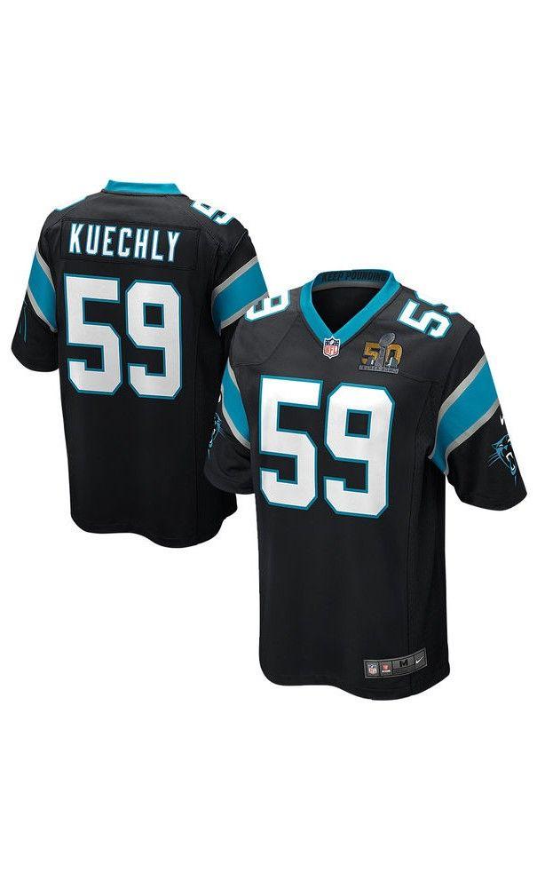 NFL Youth Carolina Panthers Luke Kuechly Black Super Bowl 50 Bound Game   Jersey  NationalSelfieDay 54a2f9d65