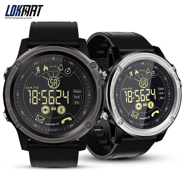 LOKMAT Smart Watch Sport Pedometer Waterproof IP68