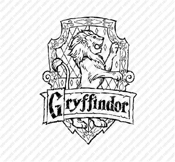 harry potter badge coloring pages | Gryffindor SVG Crest Emblem Badge SVG Harry Potter Hogwart ...