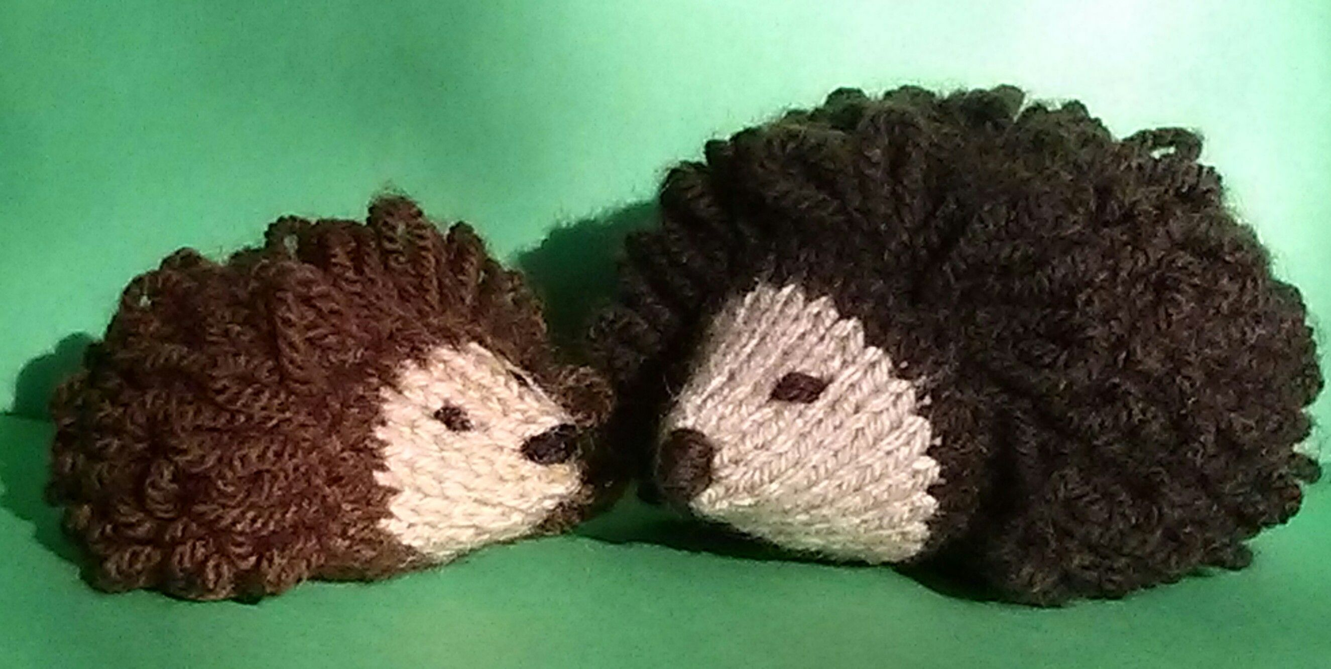 Mother & baby hedgehogs - from Jean Greenhowe's book knitted Toys
