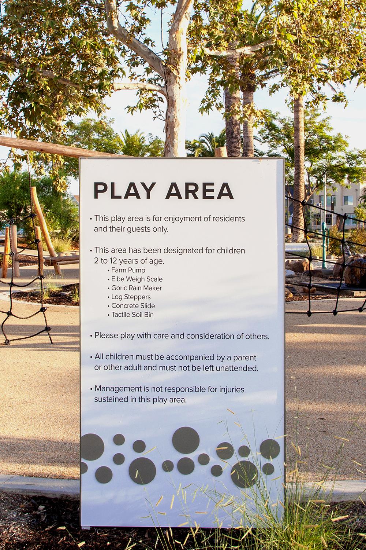 The Pools Irvine Ca Wayfinding Design Neighborhood Signage