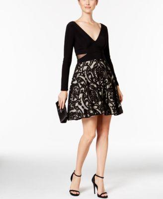 c4e9988b Xscape Illusion Cutout Fit & Flare Dress | macys.com | Beauty