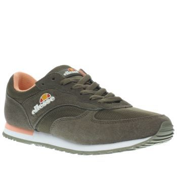 Ellesse Khaki Ls220 Womens Trainers The ellesse LS220 arrives to keep your  90s charm alive.