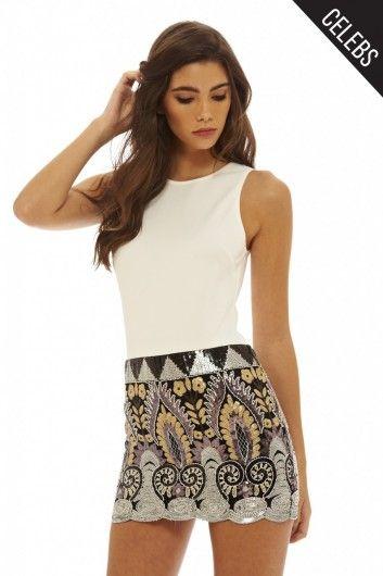 2 In 1 Sequin Skirt Dress