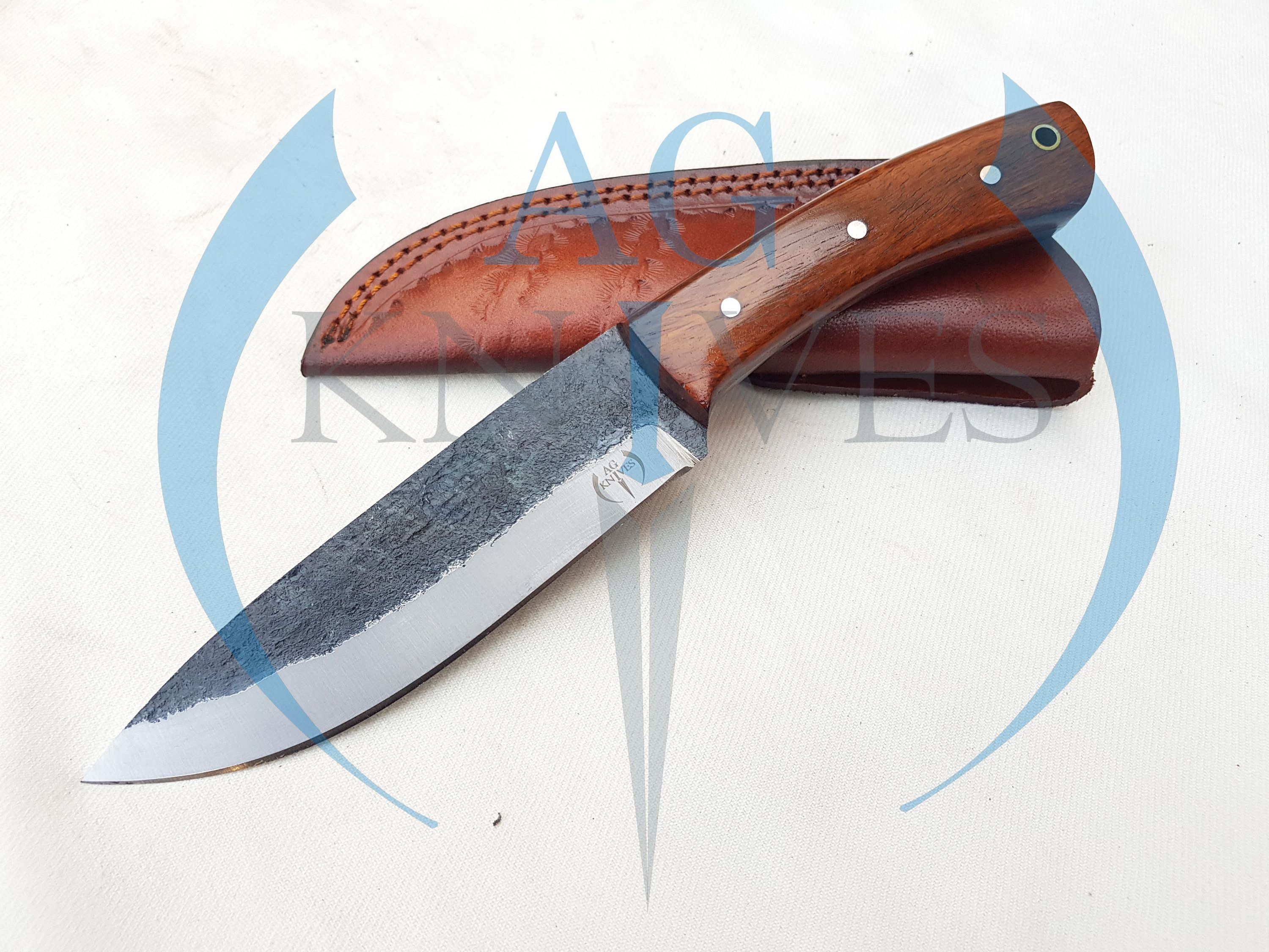 Handmade High Carbon Steel Hunting Knife With Wood Handle Etsy In 2020 Hunting Knife High Carbon Steel Knife