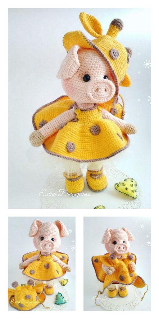 Amigurumi Small Cute Piggy Free Pattern – Free Amigurumi Patterns – Stricken, Häkeln und Spinne