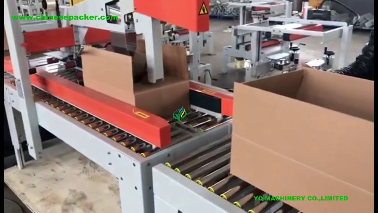 Automatic Carton Erecting Bottom Taping And Flap Carton Sealing Machine Carton Packing Machine Machine