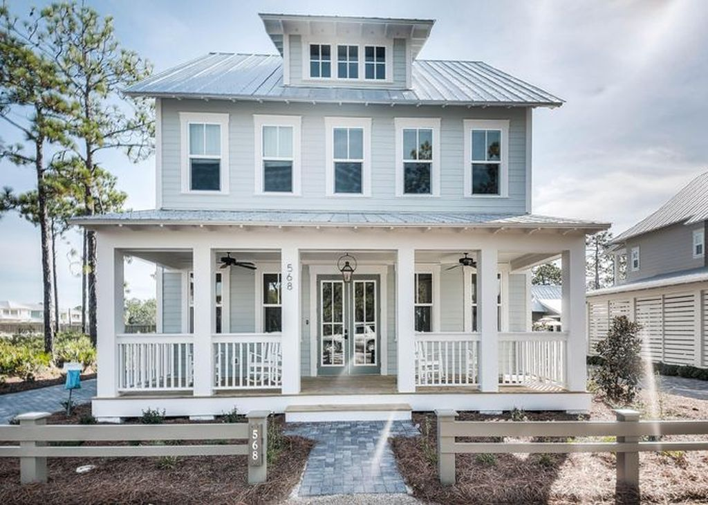 Tremendous 38 Popular Beach House Exterior Color Ideas Home Design Beutiful Home Inspiration Xortanetmahrainfo
