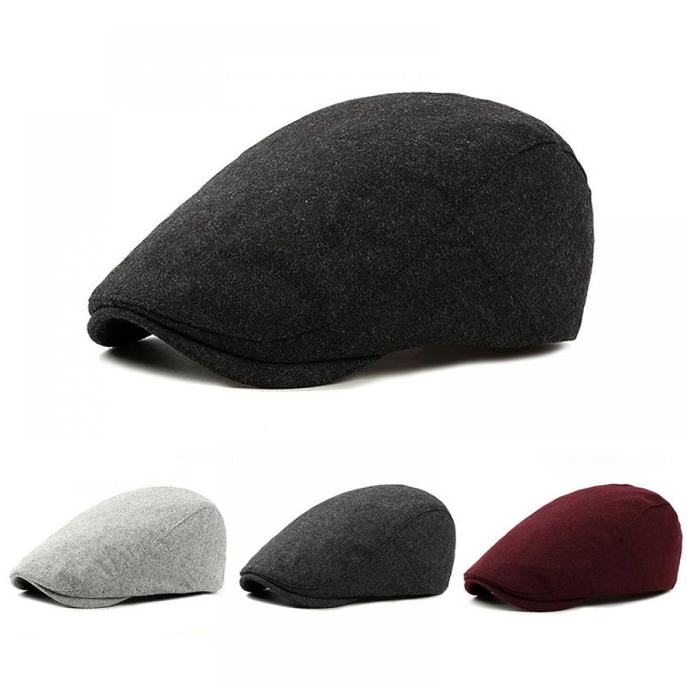 VOBOOM Ivy Caps 100/% Cotton Washed Plain Flat Caps Newsboy Caps Cabbie hat
