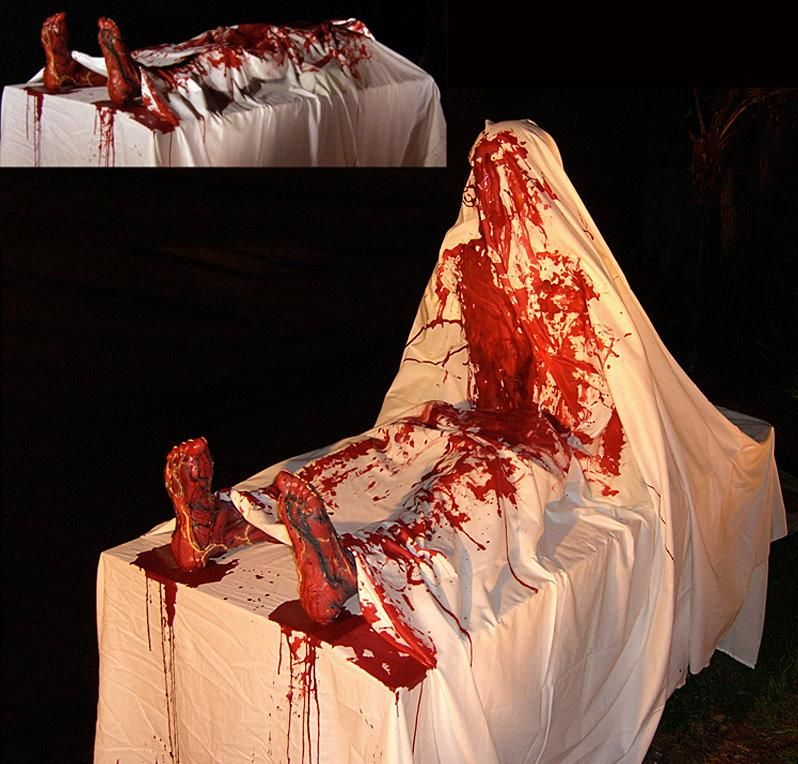 Autopsy Pop-Up Animated Halloween Prop for sale by Halloween FX - scary halloween props