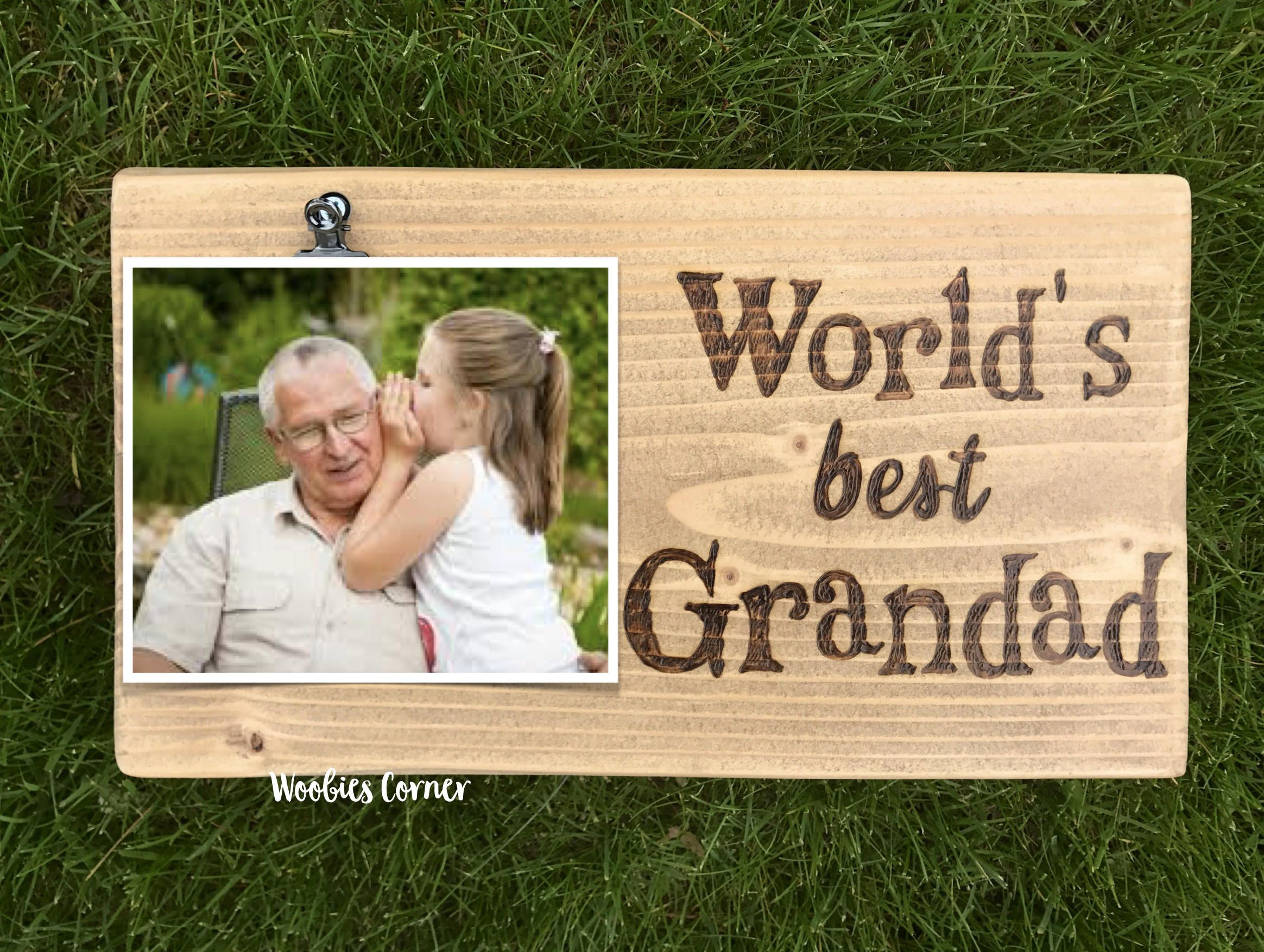 Grandad gifts, Grandpa picture frame, Gifts for Grandpa, Wood ...