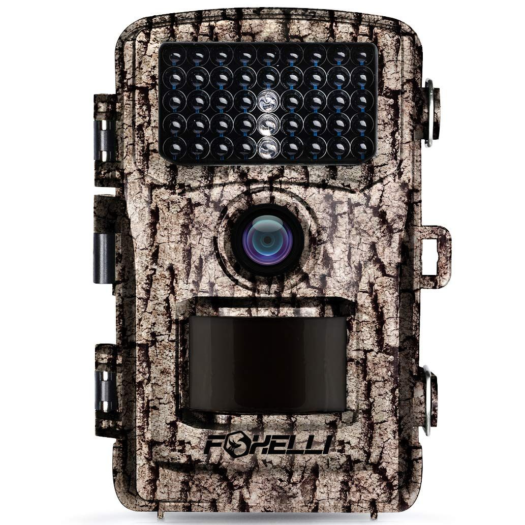 Foxelli Trail Camera - 14MP 1080P Full HD Wildlife Scouting Hunting Camera with Motion Activated Night Vision, 120° Wide Angle Lens, 42 IR LEDs and 2.4 LCD Screen, IP66 Waterproof Game Camera #wideangle