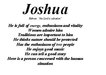 Joshua name | Names with meaning Joshua name Joshua meaning