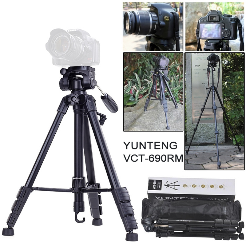 76.00$  Watch now - http://alii0j.shopchina.info/go.php?t=1915844124 - Yunteng VCT-690 New Photographic Equipment Aluminium Flexible tripod for for Nikon Canon SLR Digital Camera with Bag 76.00$ #SHOPPING