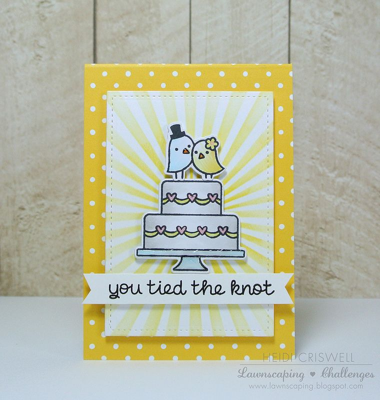 Lawn Fawn Hy Wedding Sunflower Notecard Sched Rectangle Stackables Beautiful Card