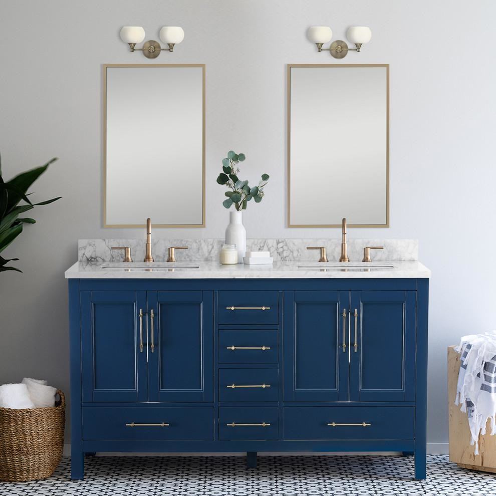 Kendall Blue Bathroom Vanity Contemporary Bathroom Vanities And Sink Consoles By Houzz Blue Bathroom Vanity Bathroom Vanity Luxury Bathroom Vanity