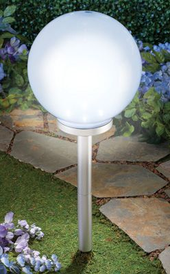 Oversized Globe Solar Garden Light Outdoor Lighting Lanterns Lights Pathway
