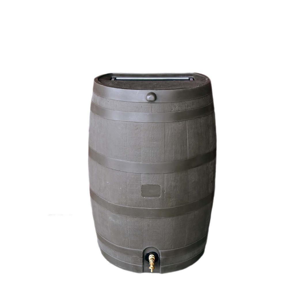Rts Home Accents 50 Gal Rain Barrel With Brass Spigot Brown In 2020 Rain Barrel Home Accents Barrel