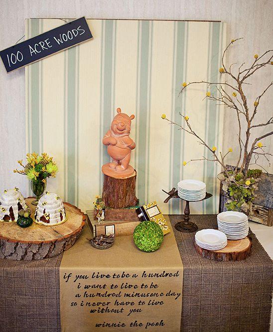 Winnie The Pooh Themed Baby Shower So Beautiful Baby Bear Baby Shower Baby Shower Winnie The Pooh Birthday