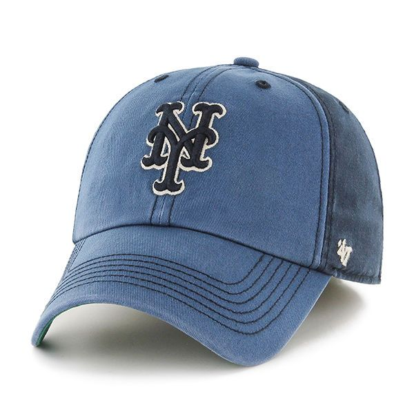 7cdef5727ba New York Mets 47 Brand Navy Humboldt Franchise Fitted Slouch Hat Cap   47Brand  NewYorkMets