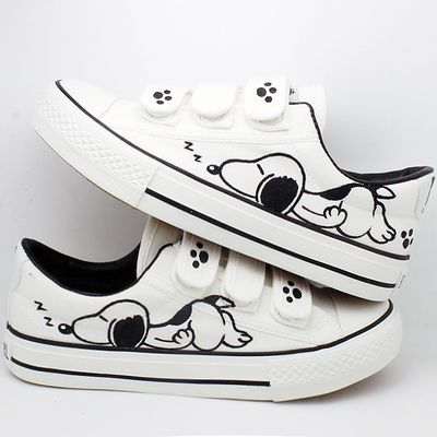 b0559b3eef3 Women White Shoes Flat Hand Painted Cartoon for only  37.50 and FREE  Shipping worldwide! We accept PayPal   Credit Cards. 45 days money back  guarantee.