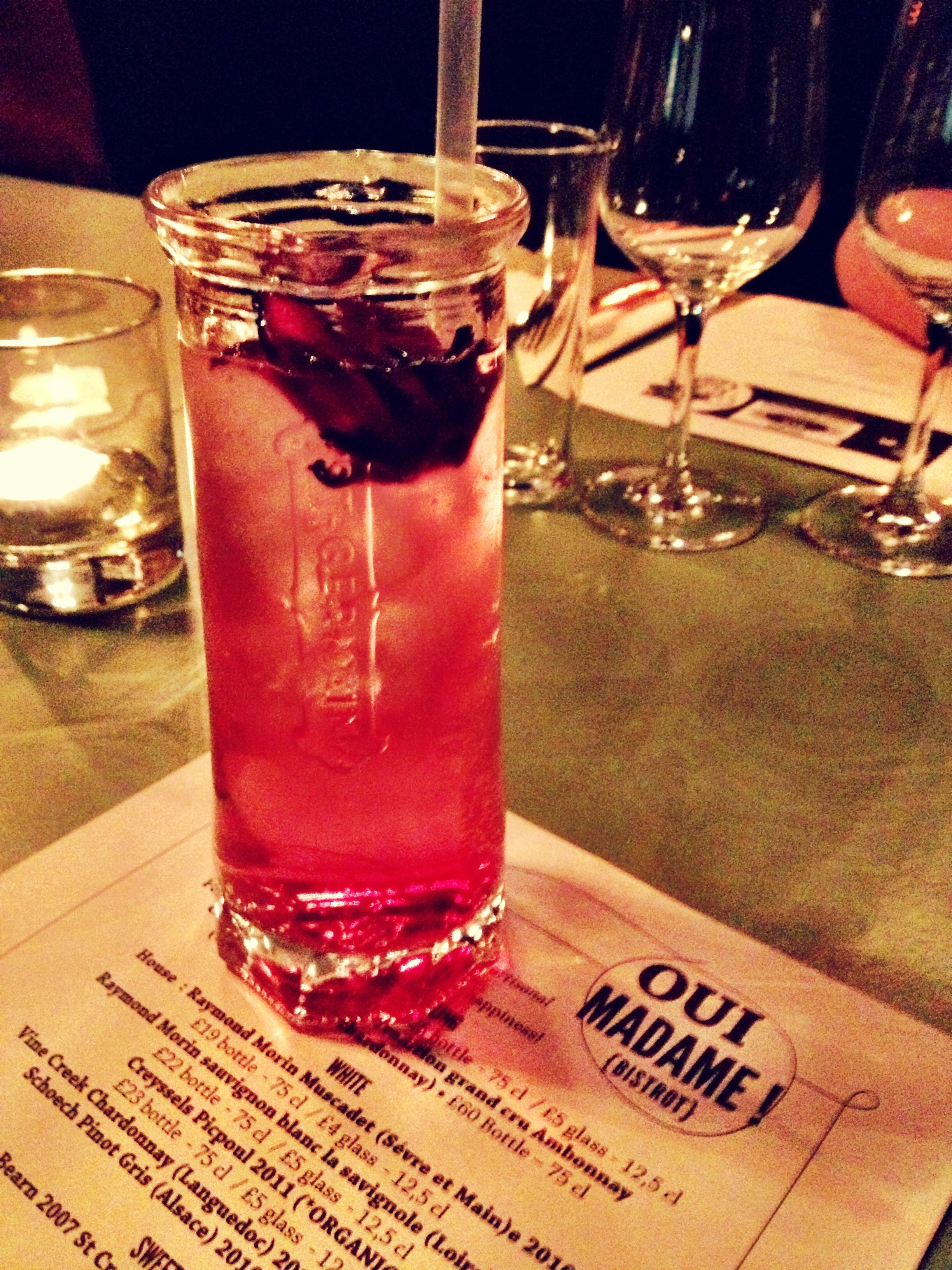 The St Germain Cocktail Served With Hibiscus Flower 1 12 Part St