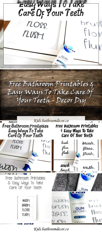 Photo of Kostenlose Badezimmer-Ausdrucke und einfache Möglichkeiten, Ihre Zähne zu pflegen – KIDSFREE Print …