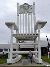 These small recliners fit into any living room and space — because you deserve to put your feet up. Gulfport, MS - Dedeaux Clan Giant Rocking Chair | Rocking ...