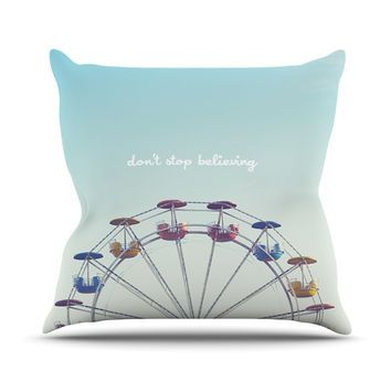 "Libertad Leal ""Don't Stop Believing"" Ferris Wheel Throw Pillow"