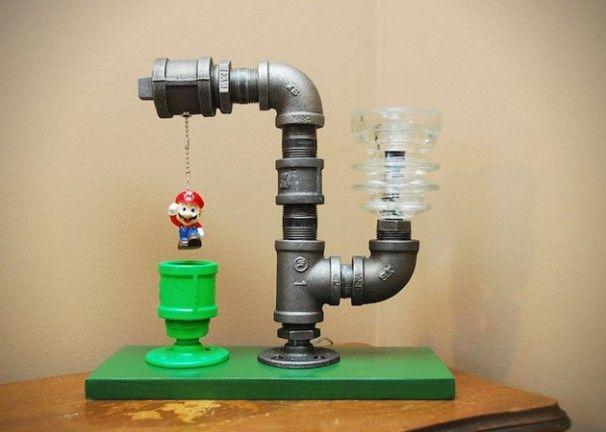 Une Lampe De Chevet Mario Industrial Lighting Myo Pipe Lamp
