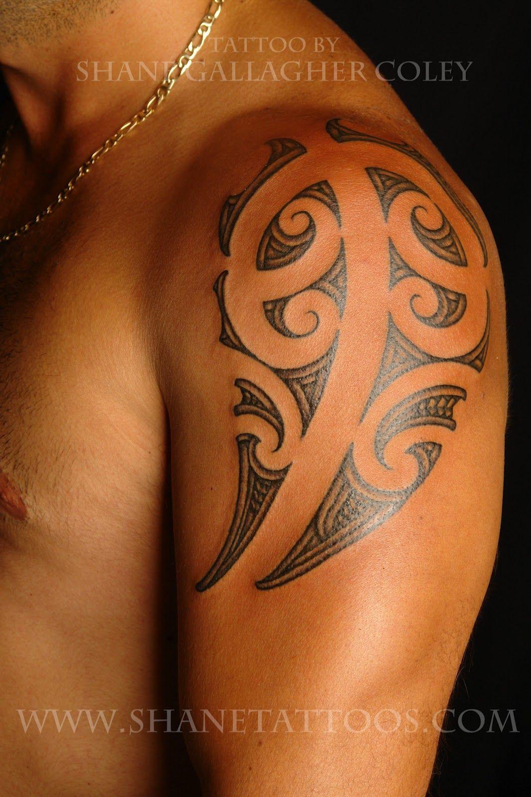Maori Shoulder Tattoos Shane Tattoos Maori Shoulder Tattoo