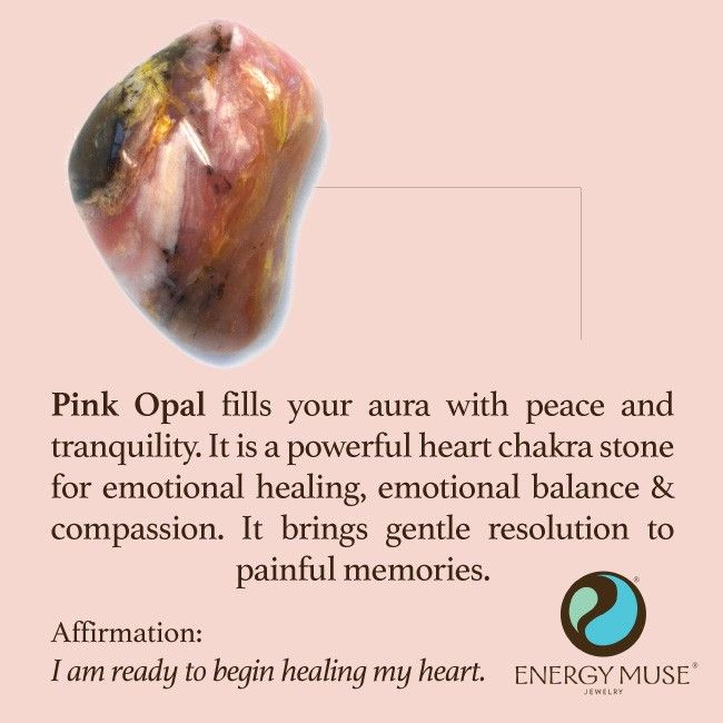 Pink Opal Stone Healing Benefits Of The Pink Opal Meaning Healing Energy Crystals Energy Muse