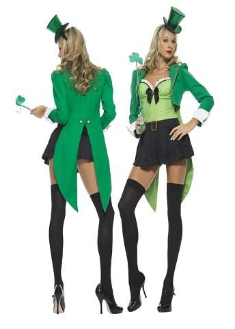 RED AND GREEN STRIPE HOLD UP STOCKINGS FANCY DRESS ST PATRICK DAY COSTUME ACCESR