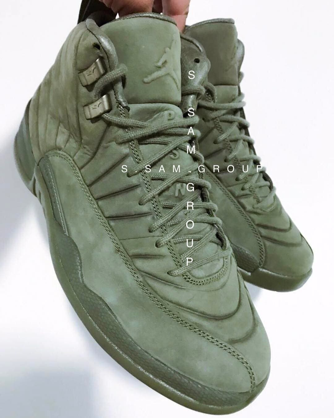 timeless design 07a30 26c7c PSNY x Air Jordan 12 Olive Release Date | Sole Collector ...