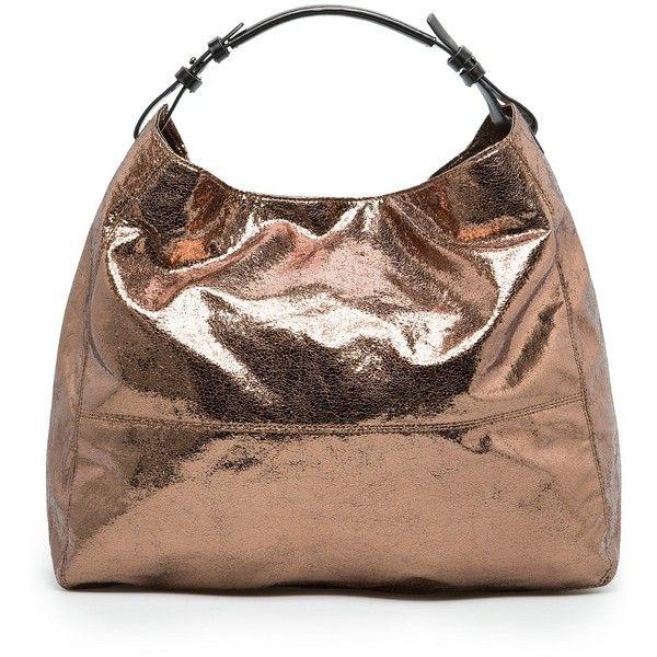 Mango Metallic Hobo Bag 35 Liked On Polyvore Featuring Bags Handbags