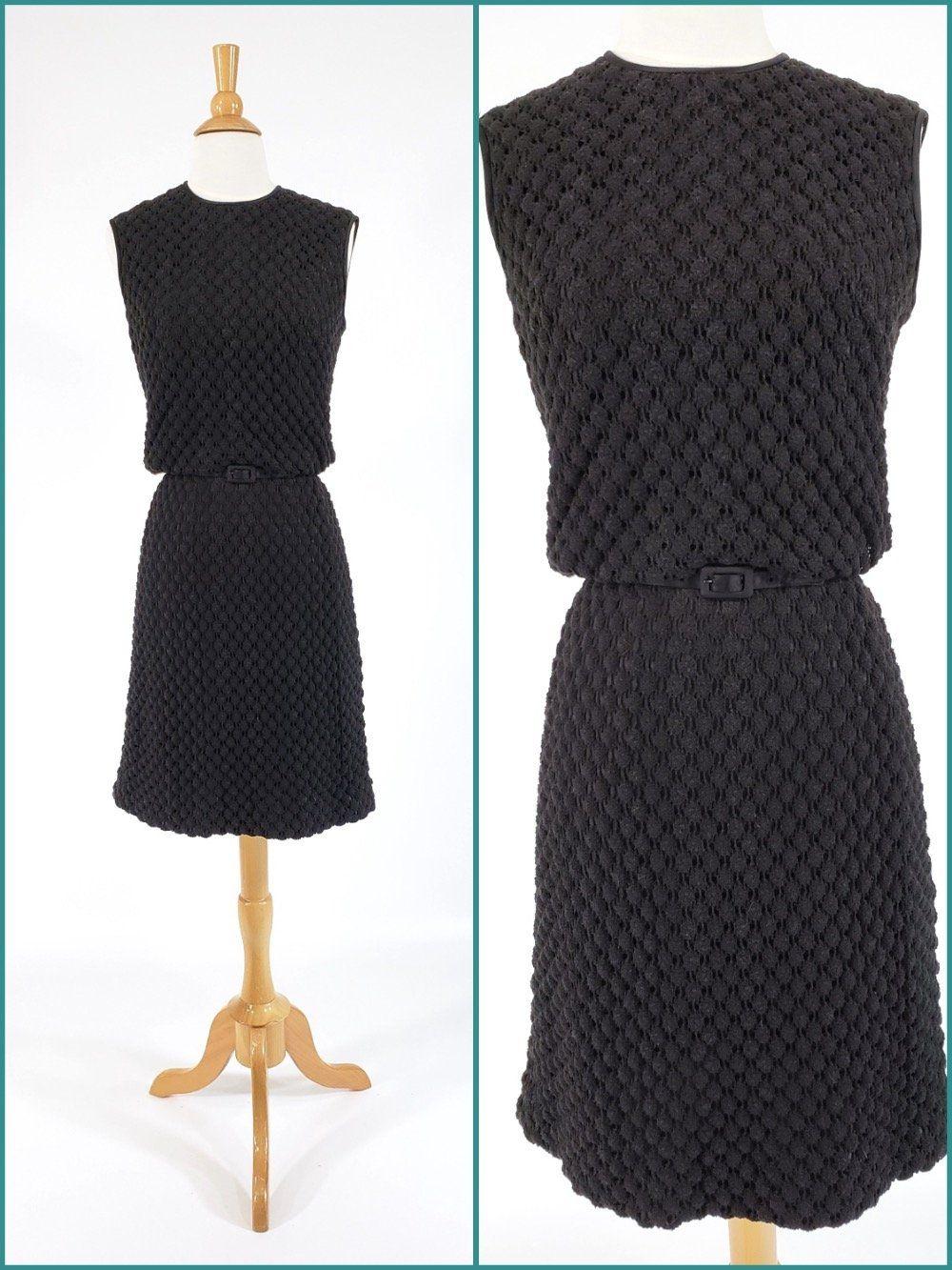60s Black Popcorn Knit Sheath Dress In 2021 Knit Sheath Dress Professional Dresses Dresses [ 1333 x 1000 Pixel ]
