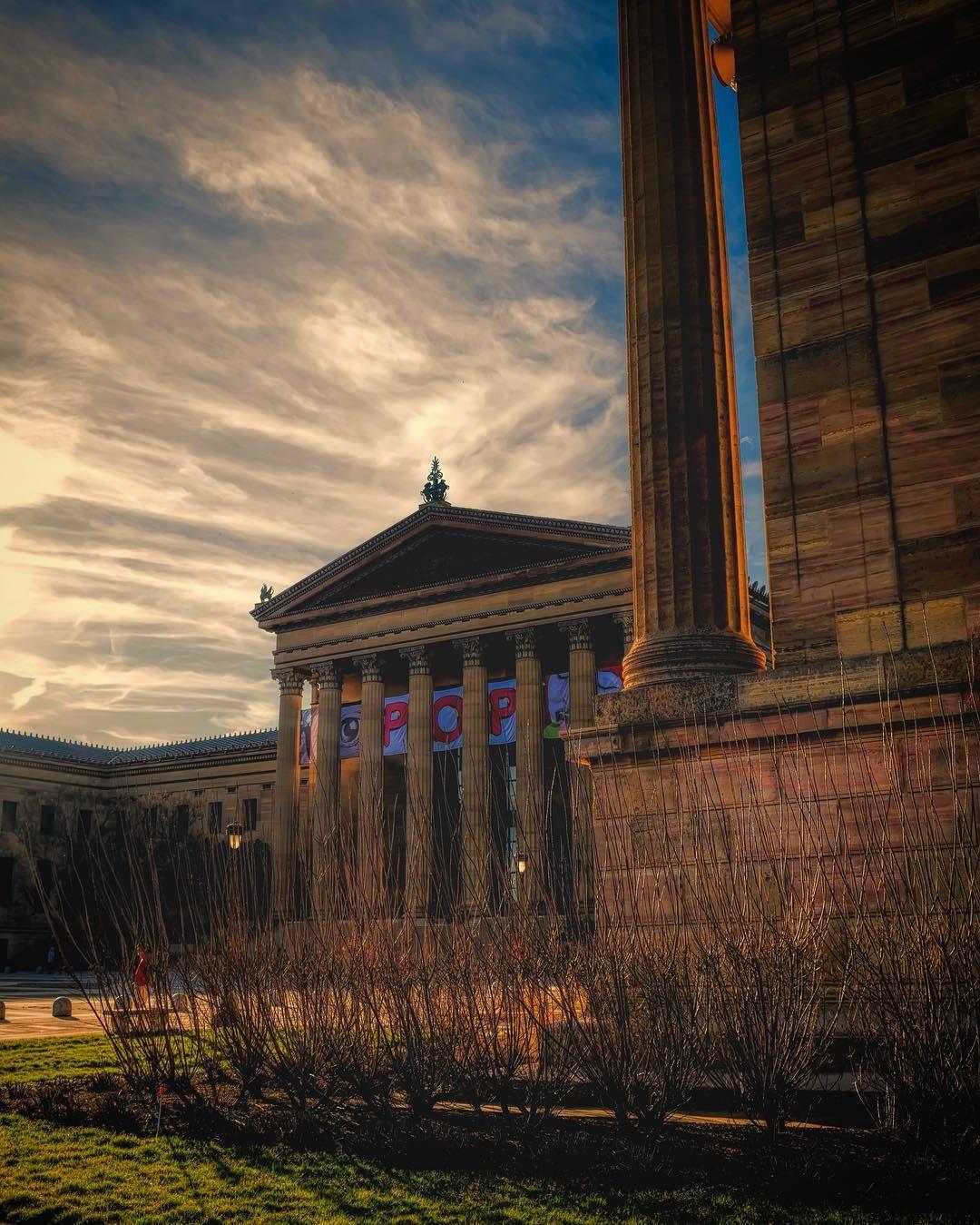 Beautiful light at the philadelphia museum of art photo